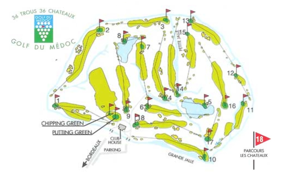 Golf du Medoc Course map