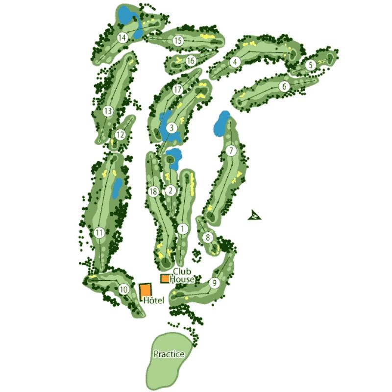 Golf de Seignosse Course Map