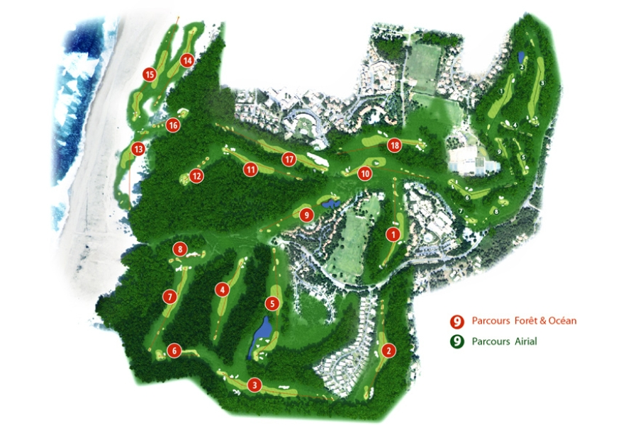 Golf De Moliets Course Map