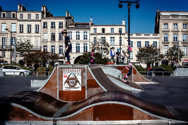 The skate park in Bordeaux.