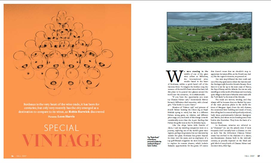 Kingdom magazine's autumn issue features golf in Bordeaux.