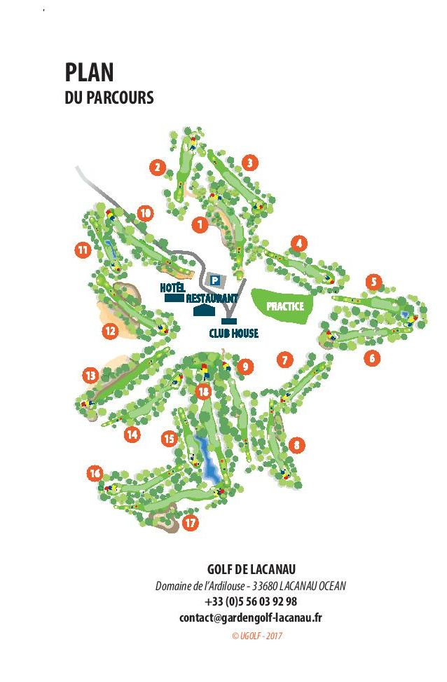Golf d'Hossegor Course Map